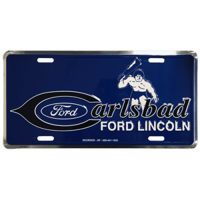 Custom Aluminum license plates, Promotional front plates, dealer ad plates