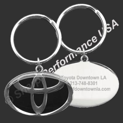 Item # K001TO - Custom Die Struck Oval Toyota Dealer Keytag