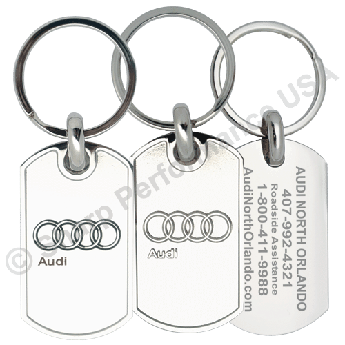 Item # K0025 - Custom AUDI Dealer Promotional Keychain - 3D Logo