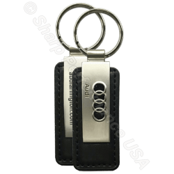 Premium Leather & Metal Rectangle Key Chains, Audi Dealer promotions
