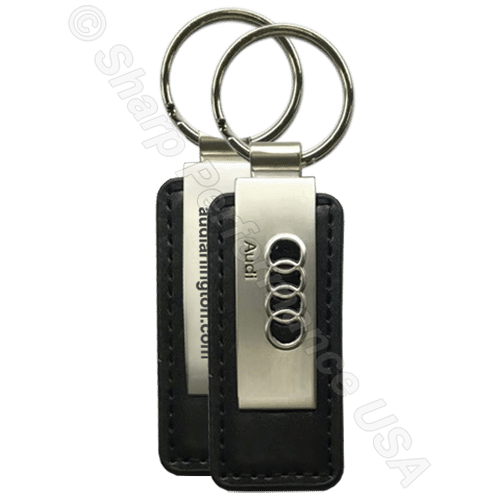 Item# K0383-3D Custom leather Key Tag with 3D Logo