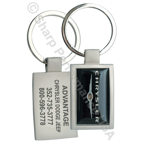 K1001 – Curved Metal Key Tag w/ Pearl Nickel Finish