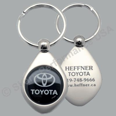 Item# K2008, metal key tag, Corporate teardrop keychain, best keychain