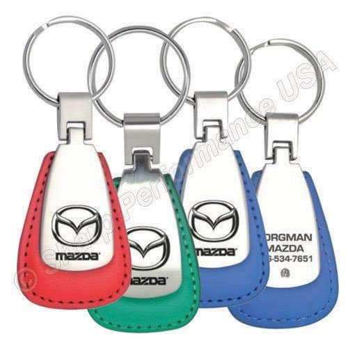 Item# K4001 Custom Leather & Metal key fobs  Wholesale