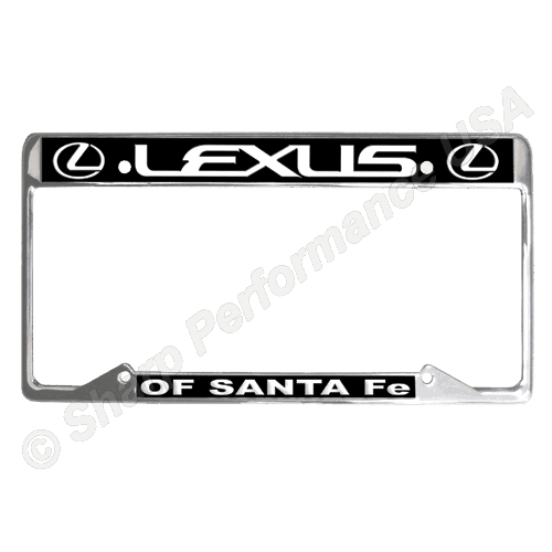 License Plate Frames, stainless license plate frames, Custom stainless steel plate frames, on car advertising products