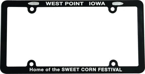 Custom Plastic Screen Printed Plate Frame