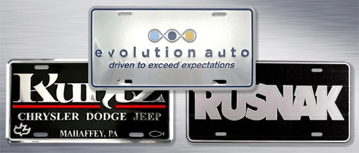 Sharp Performance Custom License Plates & Inserts