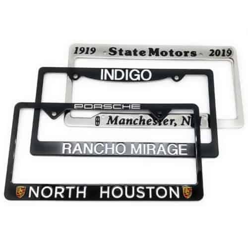 Custom License Plate Frames
