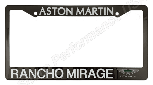 Custom License Plate Frame – Gun Metal finish Stamped and Color Filled with Silk Screen Accent Logo, 2 Hole